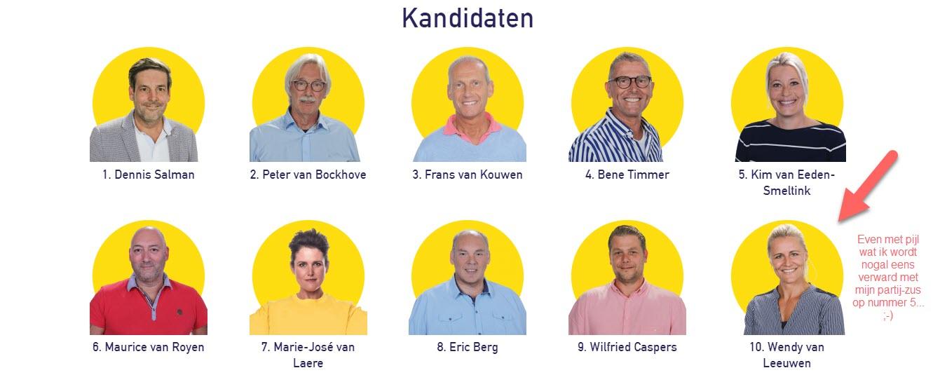 Lijst Salman Noordwijk